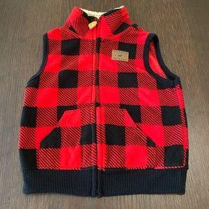 Carter's Plaid Vest Kid's Size 12 months
